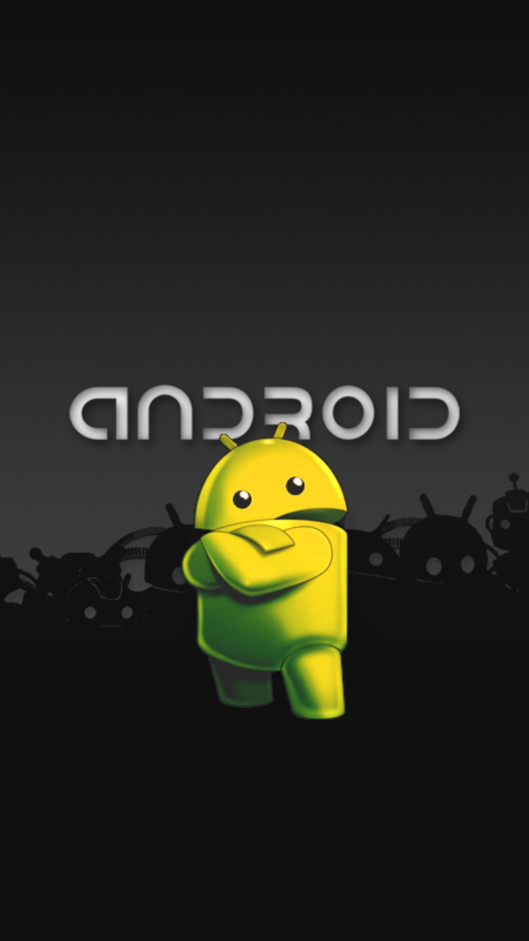 many variations of wallpapers with android logo