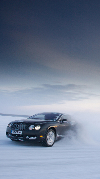Bentley Continental GT on snow for Samsung Galaxy S4, sfondi samsung galaxy s4, hintergrund, thumb