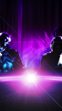 background for galaxy s4 with daft punk band purple tone