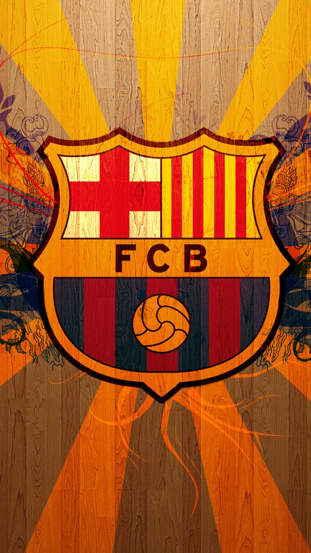 Wallpaper for galaxy s4 with FC Barcelona logo in 1080x1920 resolution