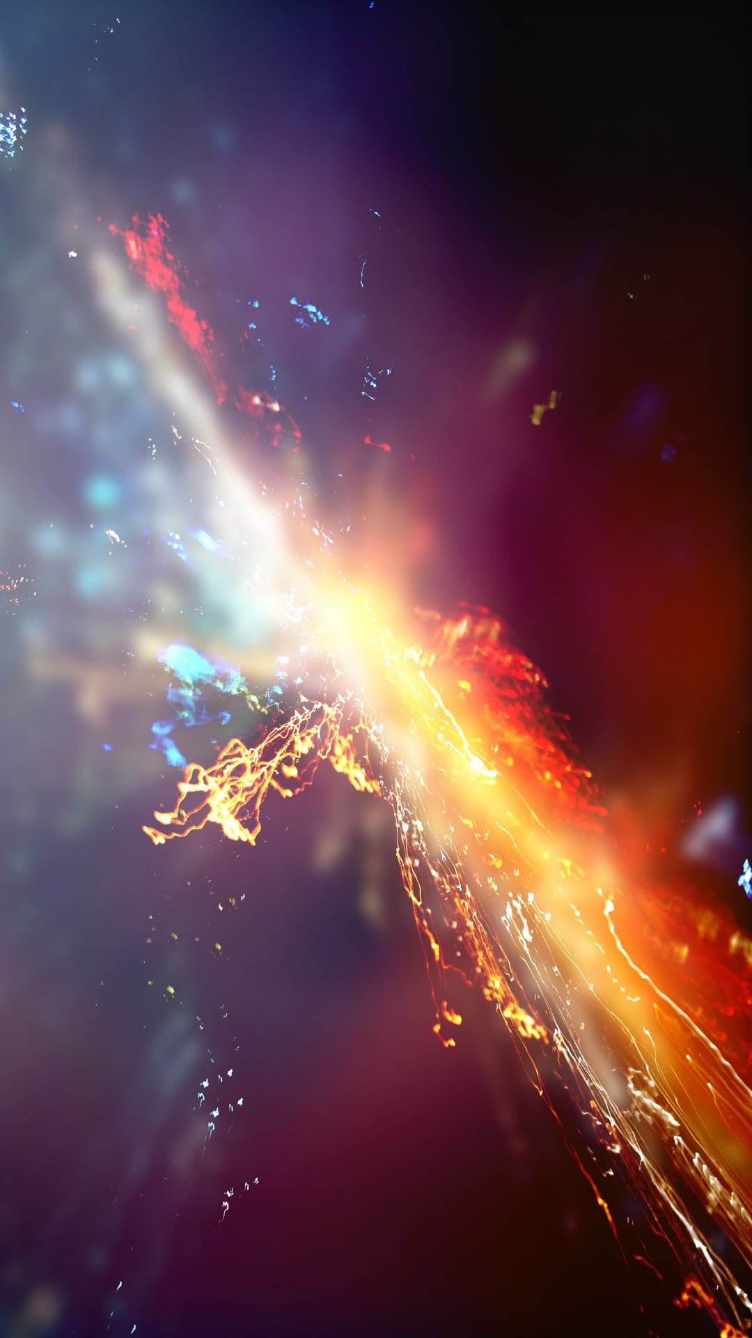 Galaxy S4 Wallpaper with fire and water abstract design in 1080x1920