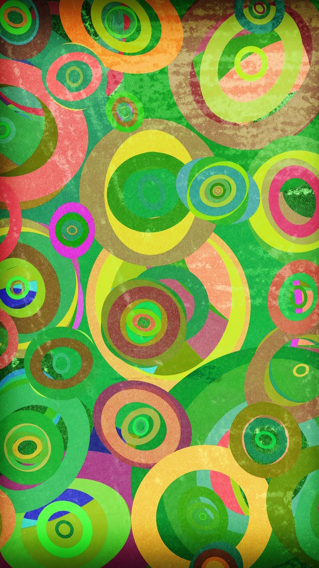 Wallpapers for galaxy colorful circular pattern colorful circles wallpaper for galaxy s4 in 1080x1920 resolution voltagebd Gallery